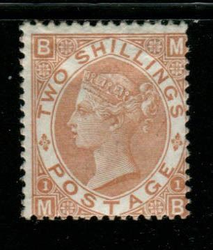 Great Britain 1880 - 2 shilling brown mint INVERTED WATERMARK - Stanley Gibbons SG121Wi
