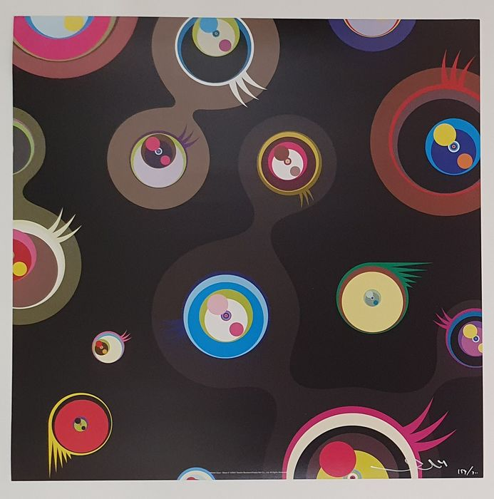"Takashi Murakami (1962) - ""Jellyfish Eyes - Black 2"""