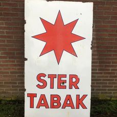 Ster Tabak - Sign - Enamel