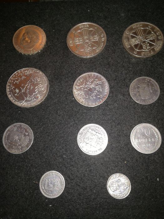 World. Lot various coins 1882/1970 (11 pieces)