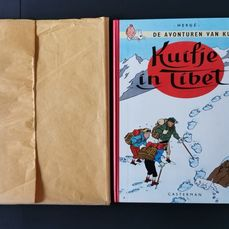 Kuifje 19 - Kuifje in Tibet (A60) - in origineel kraftpapier - Hardcover - First edition - (1960)