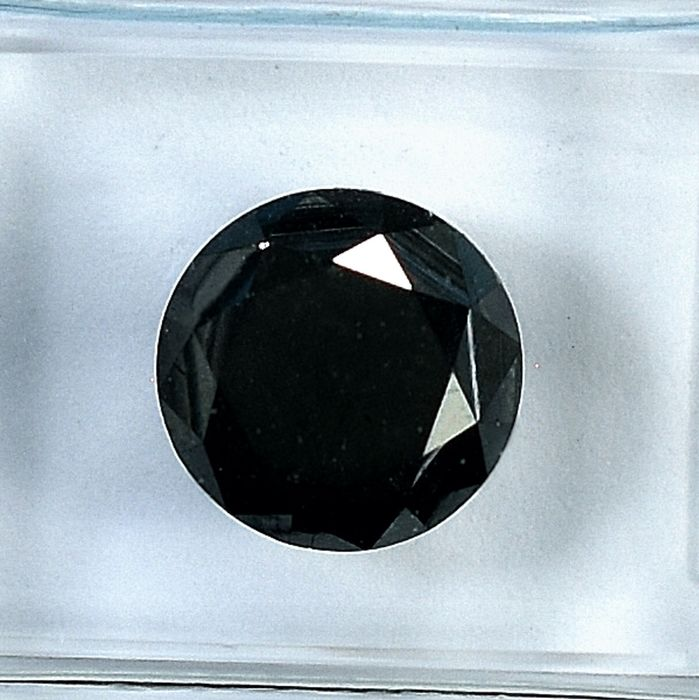 Diamant - 2.59 ct - Brillant - Black - NO RESERVE PRICE