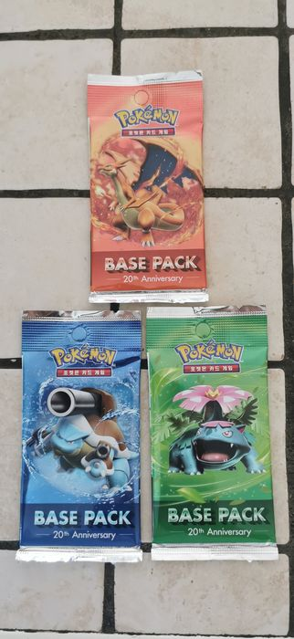 Nintendo - Pokémon - Trading card Boosters Pokémon pack de base 20th - 2016