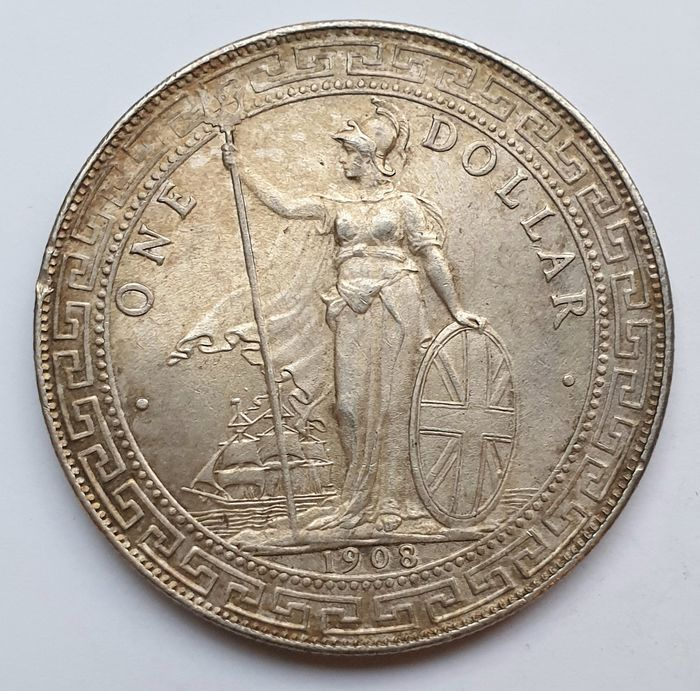 Great Britain. Trade Dollar 1908 B - Bombain Mint - Muito Rara
