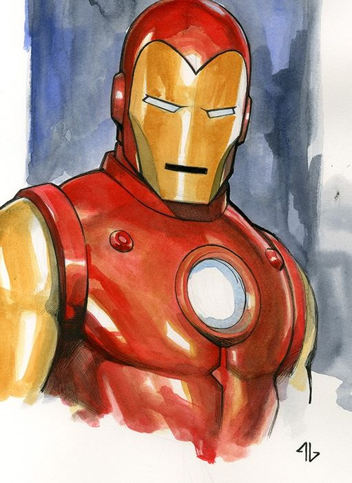 Iron Man - Commission by Adi Granov (2019)