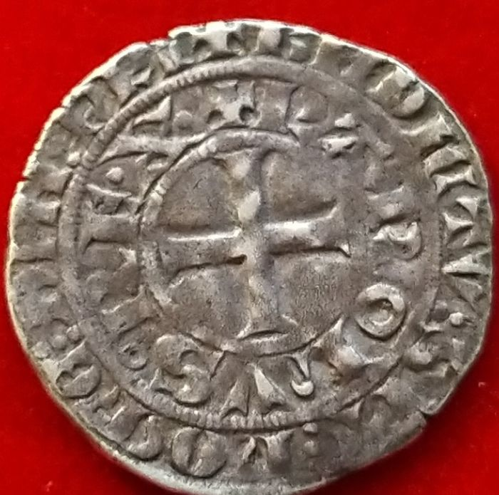 France. Charles IV (1322-1328). Maille blanche 1323-1328