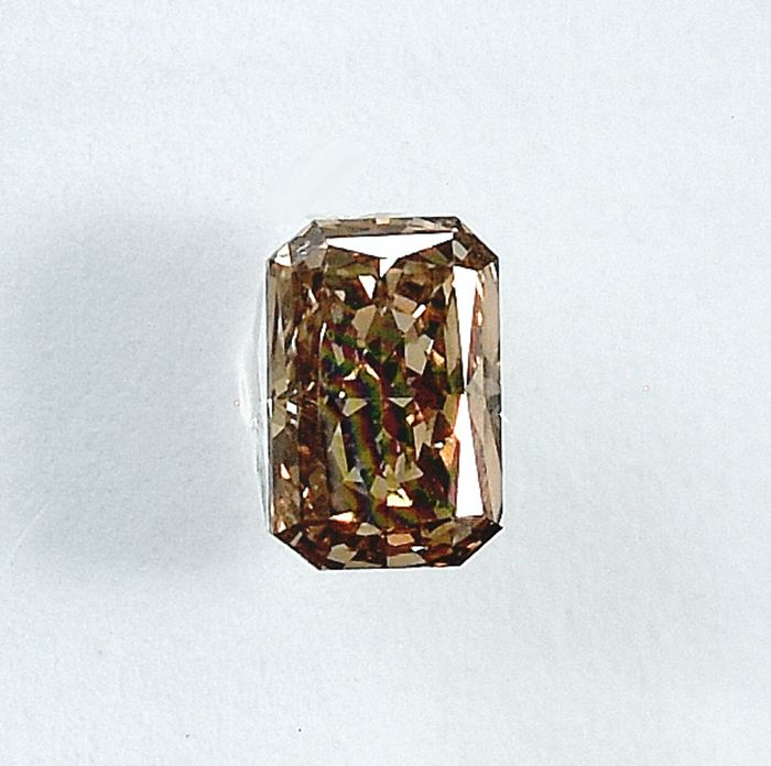 Diamante - 0.33 ct - Radiante - Natural Fancy Light Yellowish Brown - Si1 - NO RESERVE PRICE