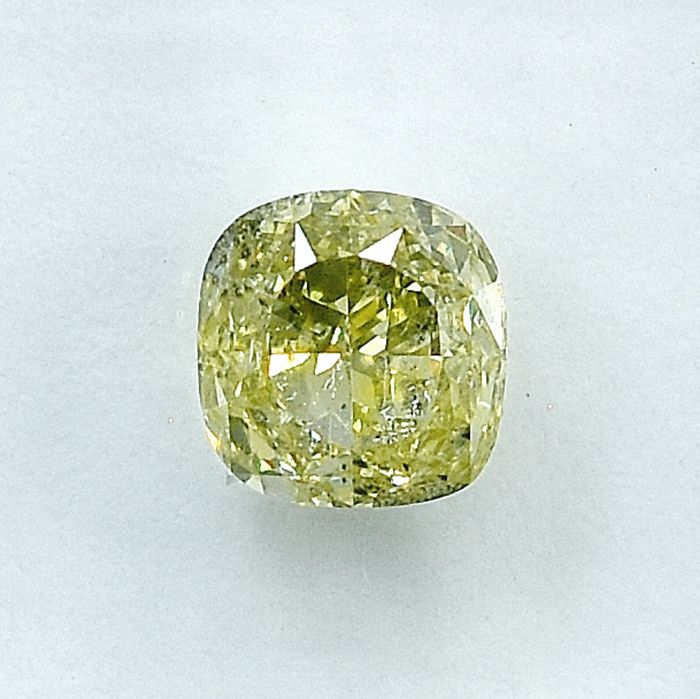 Diamante - 1.01 ct - Cojín - Natural Fancy Light Yellow - I2 - NO RESERVE PRICE