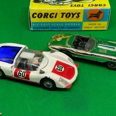 Corgi - 1:43 - Nr. 312 Jaguar E-Type Competition Model + Nr. 330 Porsche Carrera 6 racing number 60