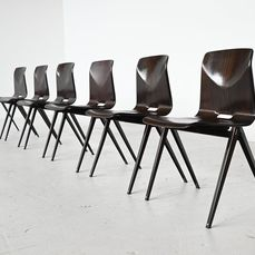 Elmar Flototto - Pagholz - Chair (6) - Industrial - Steel, Wood