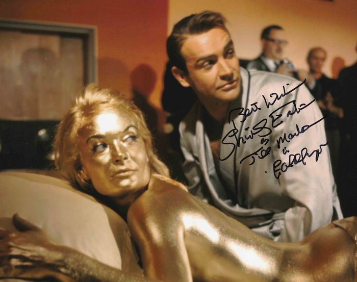 James Bond 007: Goldfinger - Shirley Eaton (Jill Masterson) - Foto, Handtekening, Signed, with Coa