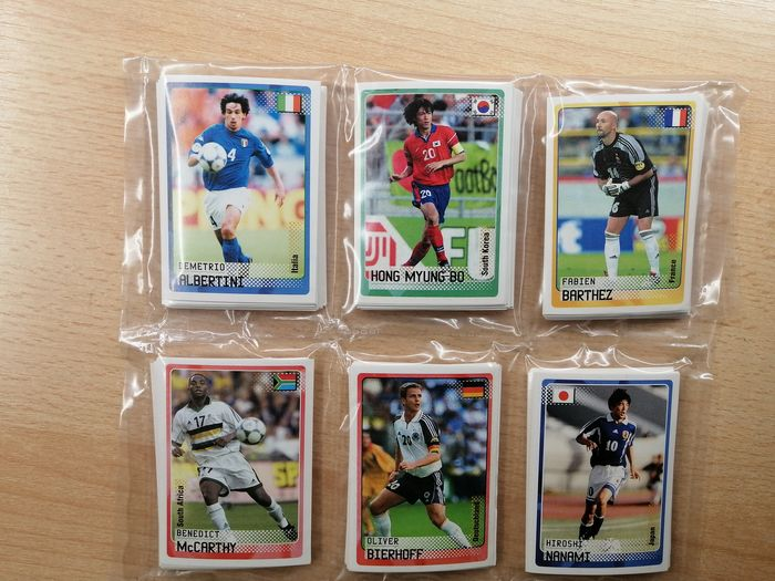 Panini - Road to World Cup Korea/Japan 2002 - Complete loose stickerset