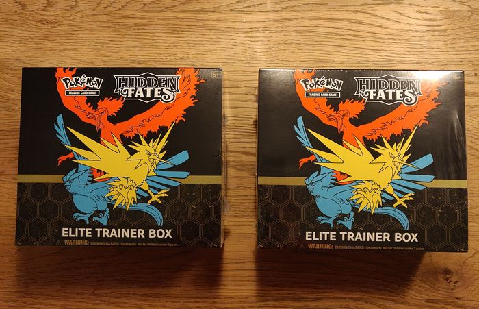 Pokemon - 2x Hidden Fates Elite Trainer Box -SEALED-