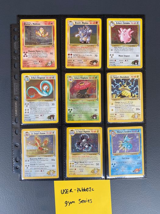 WOTC - Complete album Pokemon GYM HEROES set 132/132 - Good condition - 2000