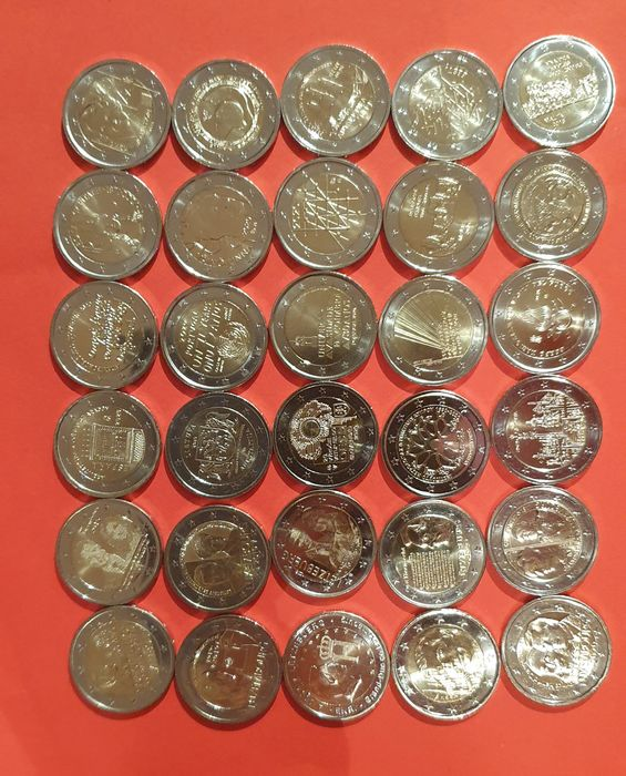 Europe. 2 Euro 2004/2021 Commemorative (30 pieces)