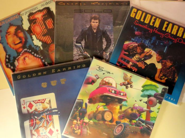 Golden Earring & Related - 5 LP Albums including signed LP by Barry Hay - Multiple titles - LP's - 1979/2016