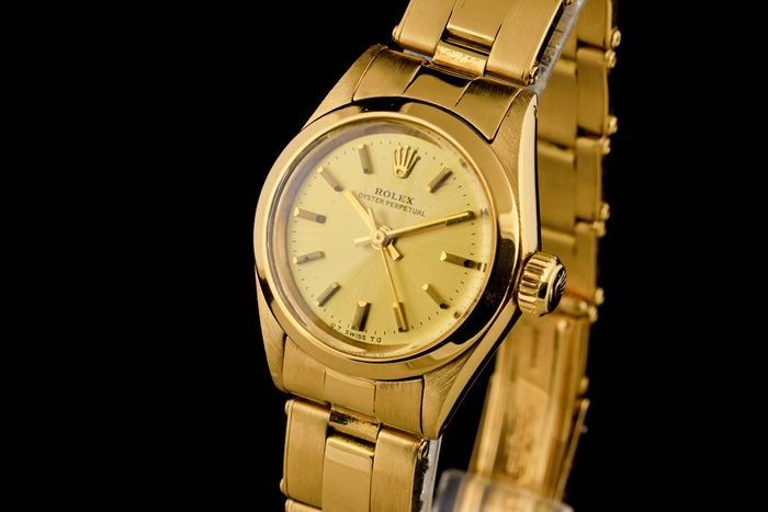 Rolex - Lady Oyster Perpetual 18K Gold - 6718 - Femme - 1970-1979