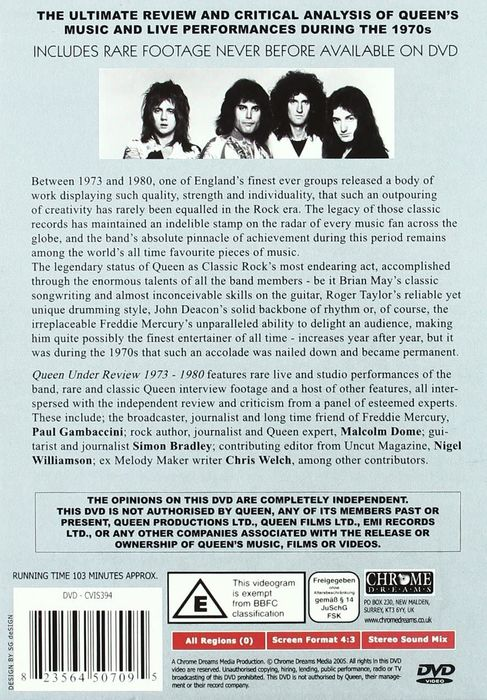 Queen - Live At Wembley Stadium, Under Review 1973-1980,  Sheer Heart Attack, Made In Heaven, Live Magic - Multiple titles - CD's, DVD's - 1993/2006