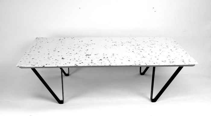 Polimeer - Polimeer - Table d'appoint - Low Coffee Table Terrazzo Recycled Plastic