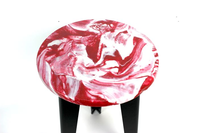 Polimeer - Table basse, Table d'appoint, Tabouret - marble recycled plastic