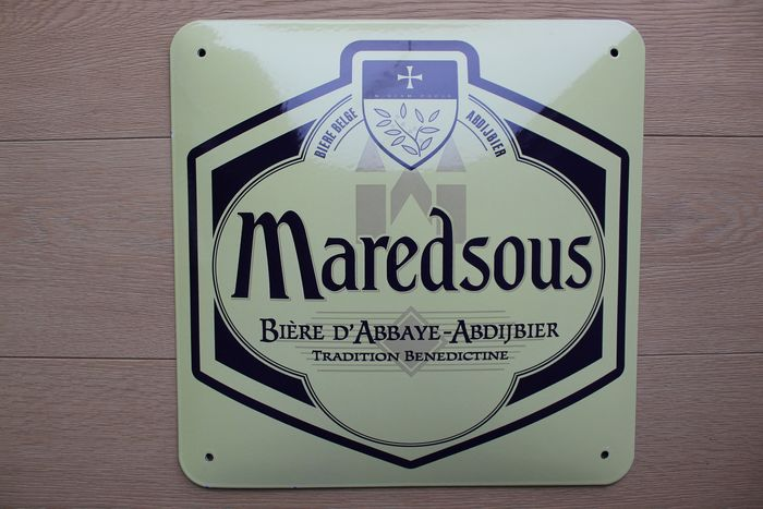 Maredsous Abdijbier - Bord - Emaille