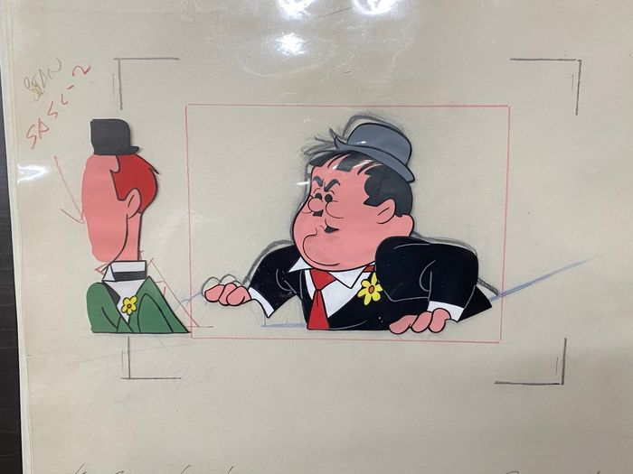 Laurel and Hardy (TV series) - 4 drawings and cels