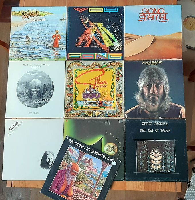Genesis & Related, Gong, David Bedford - Multiple artists - Foxtrot, Fish out of Water, Ramshackled, Magic, You - Multiple titles - LP's - 1974/1985