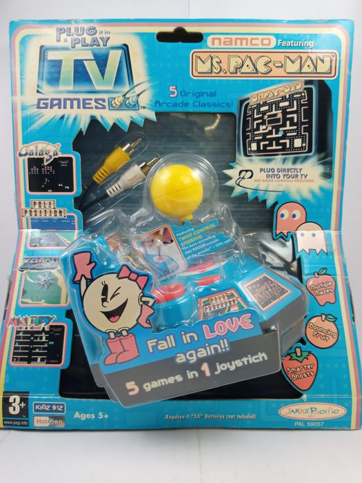 Jakks Namco Plug & Play TV Games - Ms. Pac-Man  Galaga Pole Position Mappy Xevious - Console met Games (5) - In originele verpakking