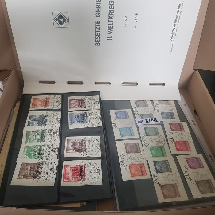 German Empire 1900/1945 - Germany specialist lot of stamps, postal stationary pieces and second world war xx