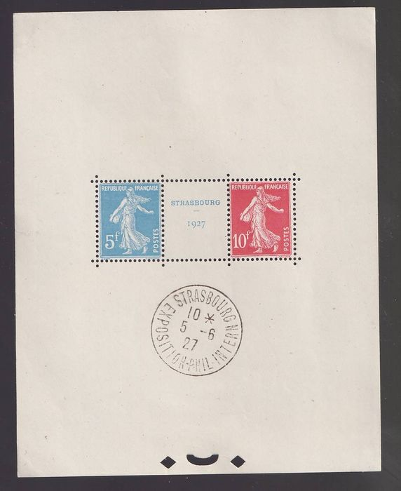 France 1927 - Strasbourg Philatelic Expo, Block No. 2 - Yvert 2