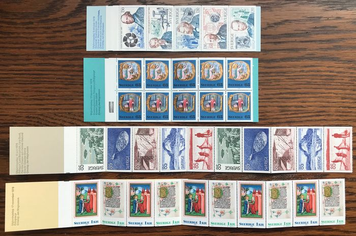 Suède 1969/1988 - Batch of 99 stamp booklets from Sweden from 1969 through 1988