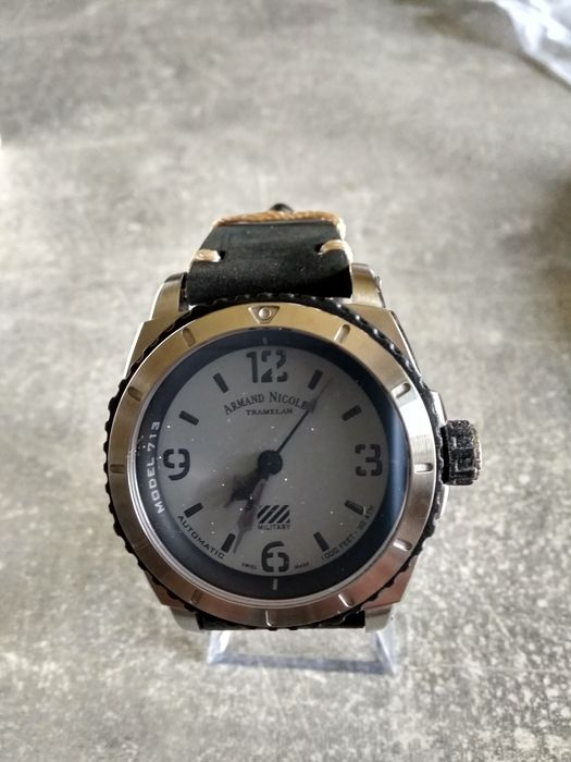 """Armand Nicolet - S05-3 Military  - """"NO RESERVE PRICE"""" - A713PGN-GN-PK4140NR - - Mænd - 2011-nu"""