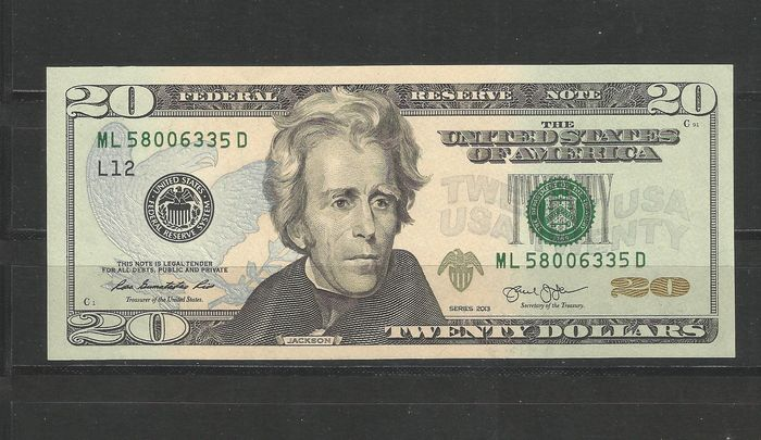 United States of America - 3 x 20 and 1 x 10 Dollars 2013