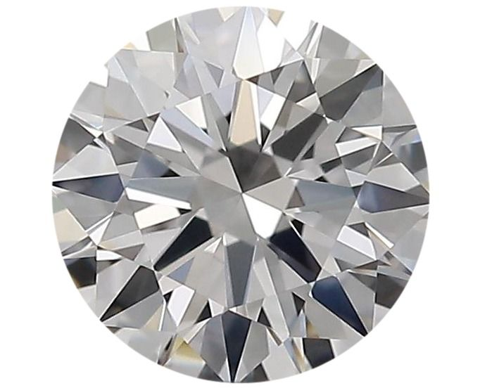 1 pcs Diamant - 0.50 ct - Rond - D (incolore), ----No Reserve Price_Free Shipping---- - IF (pas d'inclusions)