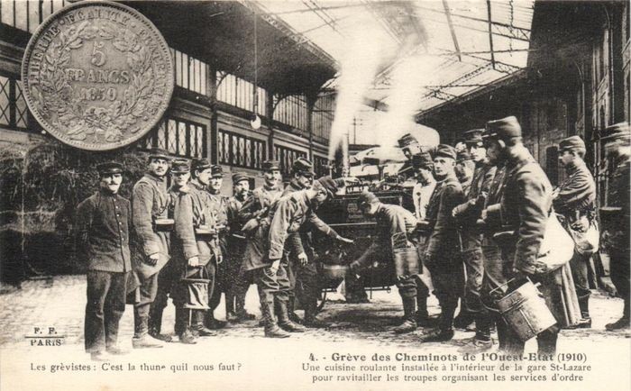 France - Train strike 1910 - Including beautifully animated images with full trains - Postcards (Collection of 14) - 1910-1910