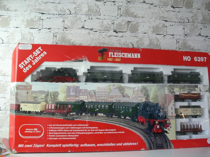 Fleischmann H0 - 6397 - Train set - Starter set of the year; 120 years of German railways - DB