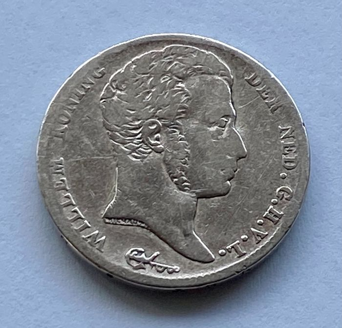 Netherlands. Willem I (1813-1840). 1/2 Gulden 1818