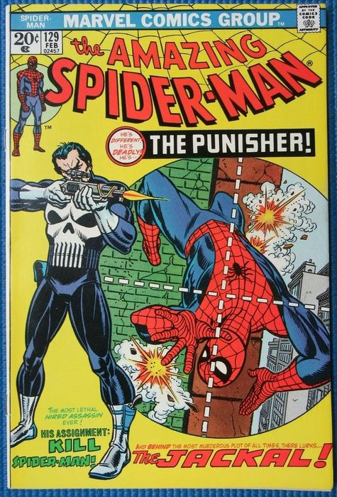 Amazing Spider-Man 129 - 1st Appearance of The Punisher - Agrafé - EO - (1974)