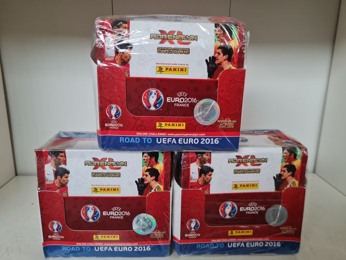 Panini - Road to Euro Euro 2016 France - 3 original sealed boxes Adrenalyn Trading Cards