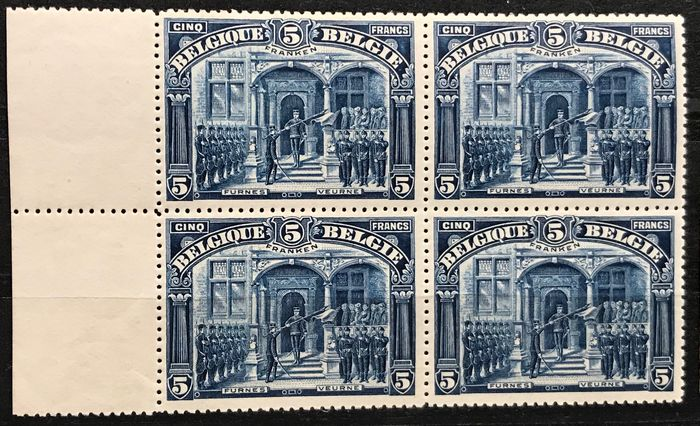 Belgium 1905 - Issue 1915 Panoramas - Complete series in blocks of four - Wonderfully centred - OBP / COB 135-149