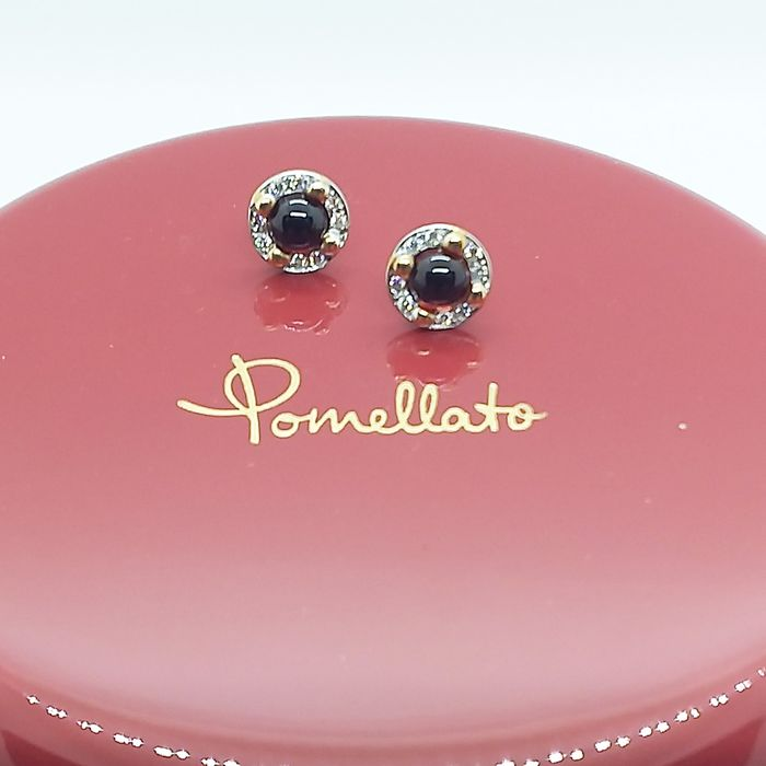 Pomellato - 18 kt Roségold - Ohrringe - 1.24 ct Granate - Diamanten