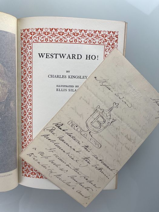 Charles Kingsley - Westward Ho. With original manuscript letter by its author - 1927