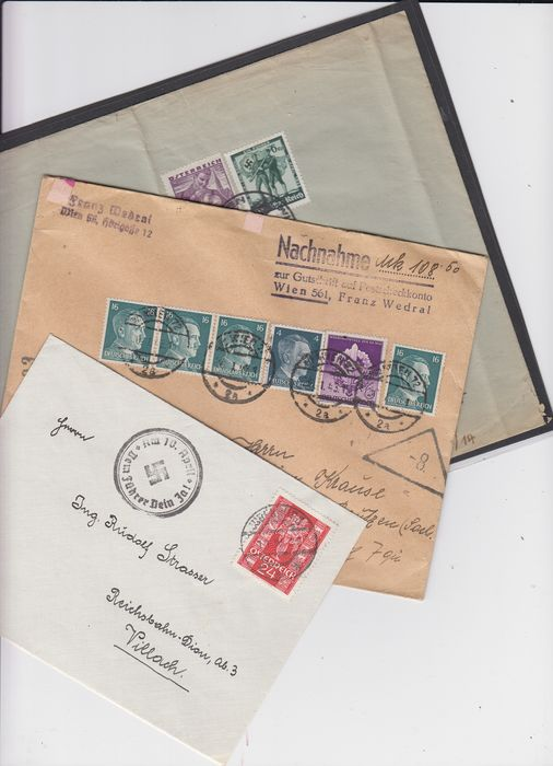 Duitse Rijk - German Reich – Ostmark documents, wide variety