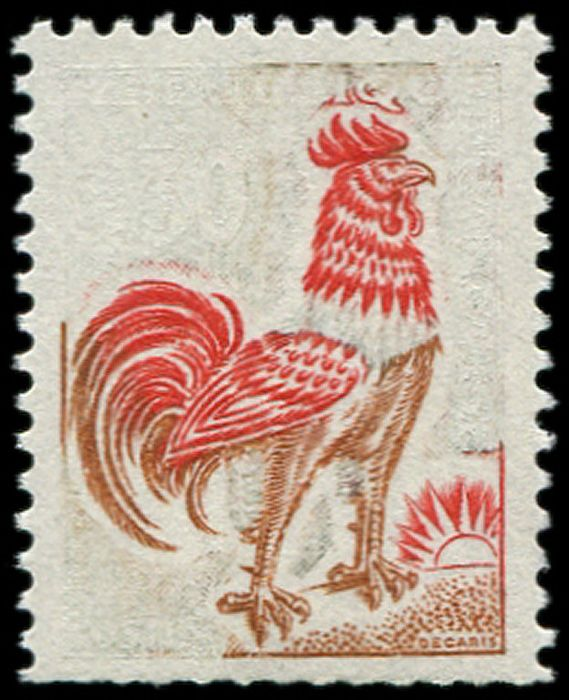 Frankrijk 1962 - Decaris' Rooster 0.30 WITHOUT the green. VF. Br. Maury value rating - Maury 1331A