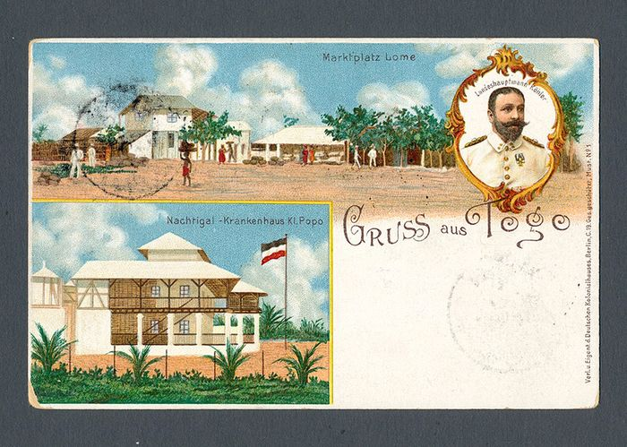 Duitse Koloniën - Togo 1898 - Postcard – postal stationery from LOME to Berlin