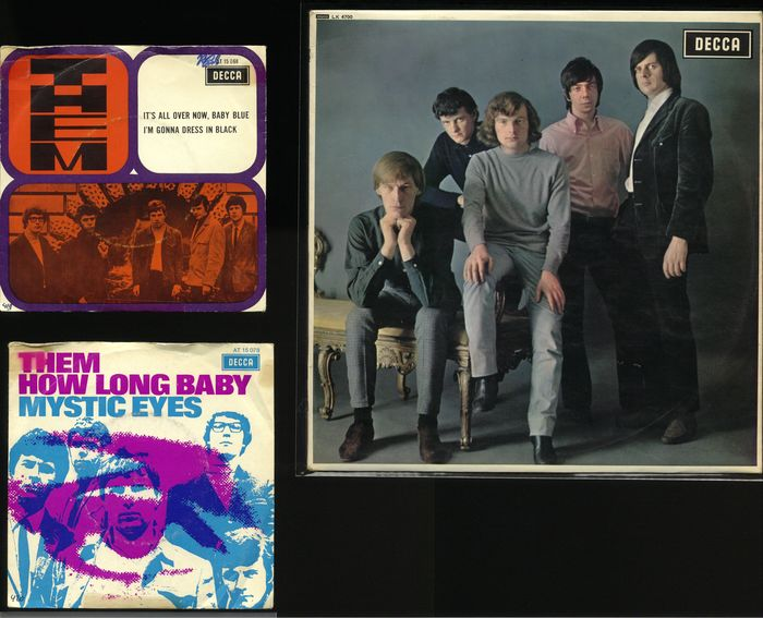 """Them - """"The Angry Young Them"""" debute album + 2 Dutch only 45 Picture Sleeve records - Diverse titels - 45-toerenplaat (Single), LP Album - 1966/1970"""