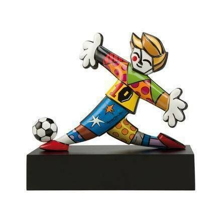 Romero Britto (1963) - GOAL! - limited edition porcelain sculpture (sold out)