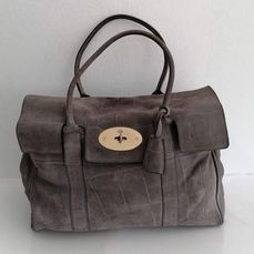 Mulberry - Crocodile Embossed Bayswater - Sac à main