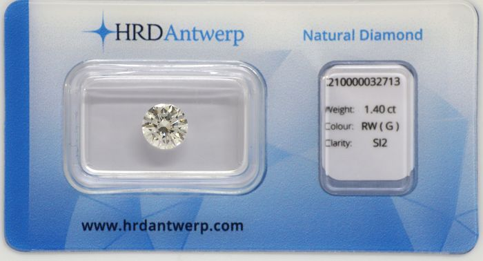 1 pcs Diamante - 1.40 ct - Brillante - G - SI2