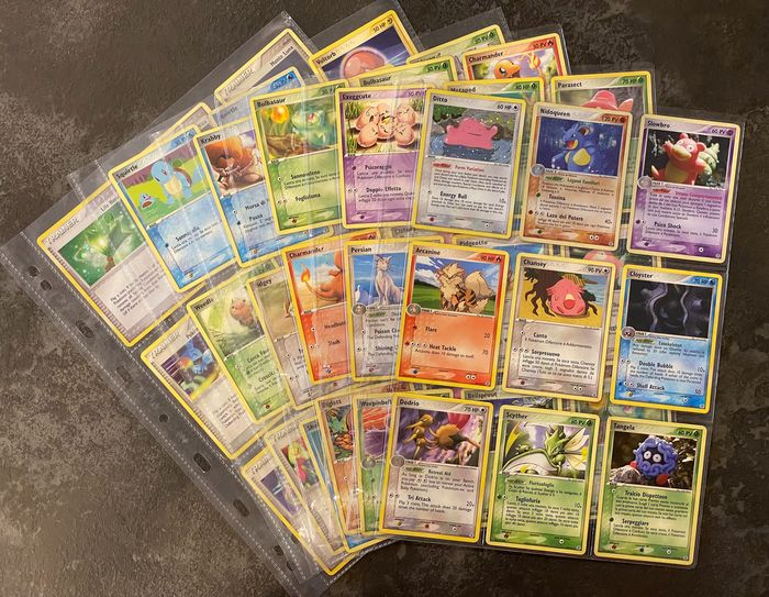 Pokemon - SEMI-COMPLETE EX FireRed & LeafGreen Holo Set - Bulbasaur, Squirtle HOLO - 2004